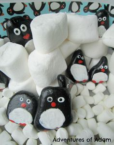 Penguin Story Stones - perfect to add to penguin or winter unit!