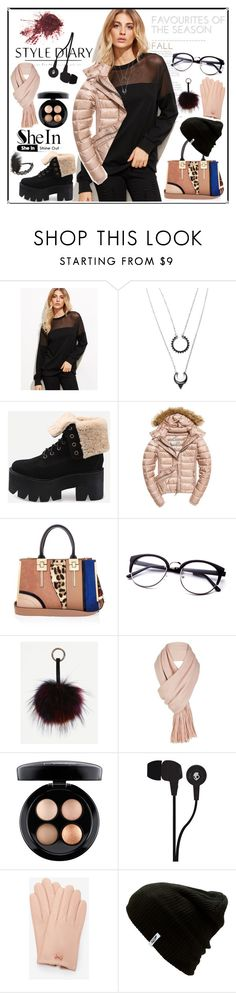 """""""Fall Style Diary"""" by karinravasio ❤ liked on Polyvore featuring WithChic, Fuji, River Island, Free People, MAC Cosmetics, Skullcandy, Ted Baker, Vans and claire's"""