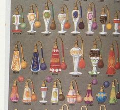 PALDA catalogue page, 1935, in book BOHEMIAN GLASS 1915-1945, cut glass perfume bottles