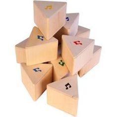PRISMAS SONIDOS GA840 Estos 12 prismas de madera natural agradables para el tacto vienen por pares del mismo sonido