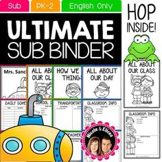 Sub Plans: Sub Plan Binder!Sub plans should be easy, not stressful! Preparing sub plans used to be an extremely stressful process for me as a new ESL teacher working in several different classrooms per day. That's why I developed this organized system!NOTE: This resource downloads in PowerPoint format.