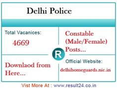 Delhi Police Department will conduct Male and Female Constable Executive exam on 4th March 2017. Download Delhi police Admit Card 2017, PE&MT Dates here.