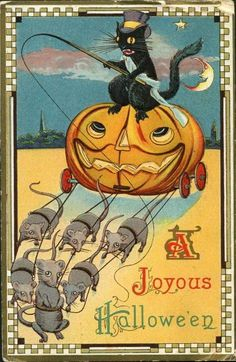 French Halloween postcard to print out