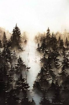 Watercolour by Andreas W Gortan, Austria Art Techniques, Watercolour Painting, Art Forms, Austria, Aqua, Snow, Pure Products, Drawings, Outdoor