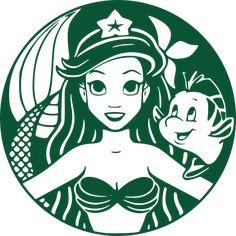 Repost ( 😊💓☕My favorite! littlemermaid art coffee ・・・ But first, COFFEE. Love this mermaid inspired art. Starbucks Art, Disney Starbucks, Cricut Craft Room, Cricut Vinyl, Vinil Cricut, Disney Font Free, Disney Fonts, Cricut Tutorials, Silhouette Cameo Projects