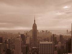 view from Top of the Rock, overlooking the Empire State Building