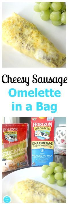 As a busy mom, I need easy breakfast ideas for back to school that my kids will love! Cheesy Sausage Omelette in a Bag is a one that can cook while I finish the morning routine! Homemade Breakfast, Low Carb Breakfast, Breakfast Ideas, Breakfast Recipes, Omelette In A Bag Recipe, Easy Dinner Recipes, Easy Meals, Easy Recipes, Good Food