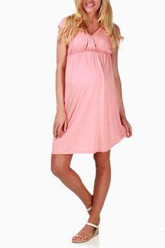 Peach Maternity/Nursing Dress #maternity #fashion