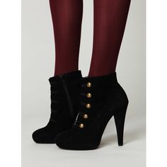 Jeffrey Campbell Sgt Pepper Ankle Boot (280 BRL) ❤ liked on Polyvore featuring shoes, boots, ankle booties, free people, heels, booties, platform booties, suede booties, suede boots and high heel ankle boots