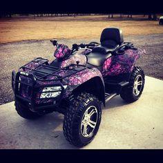 ♥ pink and purple camo ATV Ranger Atv, Camo Truck, Mein Hobby, Muddy Girl Camo, Atv Accessories, Atv Four Wheelers, Quad Bike, Cute Cars, Dirtbikes