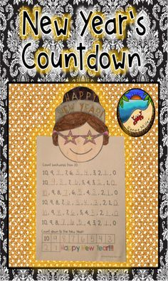 Practice counting backwards from 10 to ring in the New Year!Great for morning work the first day back from holiday break.Simple print and go activity with no prep at pages. Cut, paste, and count! First Grade Projects, First Grade Activities, First Grade Math, Grade 1, Second Grade, Classroom Projects, Classroom Fun, Classroom Activities, Fun Activities