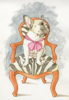 French Bulldog 85 x 11 print by TheVoyagers on Etsy, $19.00
