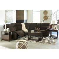 Demarion - Chocolate 2 Pc. Reclining Sectional