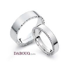 Dabouq Studio Couple Ring - DR0009 - Simple+