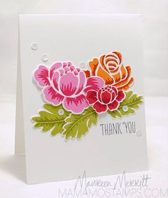 Maureen M -- so pretty. Love Maureen's cards. Try this with Stippled Blossoms.