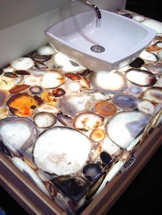 Semiprecious Gemstone Surfaces »  While blue is one of the most popular agate choices, the stone comes in almost every color imaginable.
