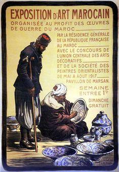 """Joseph de la NEZIERE, """"Exposition d'Art marocain"""", 1917 - Maroc Désert Expérience tours http://www.marocdesertexperience.com"""