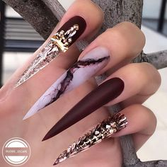 AMAZING GORGEOUS NAILS ART DESIGNS 2019 The manicurist designed the manicure color to be beautiful. It feels like a part of the canvas is directly placed on your nails, and it is also equipp. Funky Nails, Dope Nails, My Nails, Nail Swag, Gorgeous Nails, Pretty Nails, Jolie Nail Art, New Nail Trends, Manicure Colors