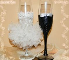 7 Wedding Glasses, Flutes, Purple Wedding, Champagne, Wedding Inspiration, Bridal, Tableware, Gifts, 15 Years