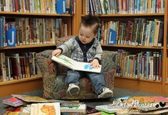 So stinking cute! Library photo shoot with a little one.