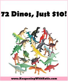 72 Mini Dinosaurs For Just $10!!! Here's another great dinosaur deal! Grab this 72ct pack of mini dinosaurs for just $10.25! These are perfect for cupcakes, easter eggs, stocking stuffers, hiding around your parent's ho... http://www.kouponingwithkatie.com/2017/04/28/72-mini-dinosaurs-for-just-10/