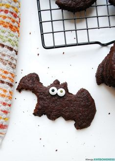 A chocolaty treat that's spooktacular. Kids can enjoy rolling and cutting out the shapes, just like regular sugar cookie dough, but with a fun chocolate twist. These Chocolate Sugar Cookies Bats are free of: wheat, dairy, egg, soy, peanut & tree nut free; top-8-free & vegan. I don't know what's happened to me! I used …