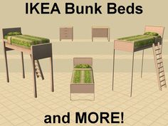 in a series of Maxis Match Bunk Beds.plus some other add ons.