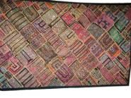 Gujarati Tapestry Indian Patchwork Wall Hanging Throw   $285.00