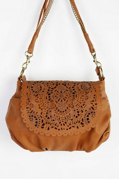 Ecote Lasercut Scalloped Crossbody Bag