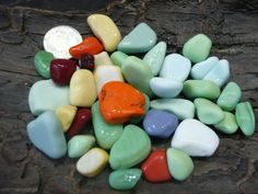 Milk glass sea glass from the shores of England by jazomir, $15.00