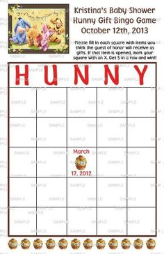 winnie the pooh party game | New Winnie The Pooh Baby Shower Birthday Party Favor Games Labels ...