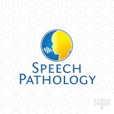 Logo created for the subject of speech-language pathology (SLP) Logo recommended for speech therapists.