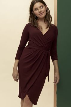09d71fa6dd2753 Delia Dress (Plum) – Occasion – Amour Vert Delias Dresses, Plum Dresses,