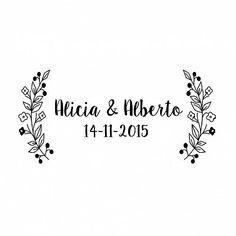 Sello de boda personalizado SWEET