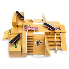 11pcs Skate Park Kit Ramp For Tech Deck Fingerboard  #mens #easy #uniquegadgets #awesome #gadget #unique #techy #fun #trymetechnologies #TrymetechnologiesCom