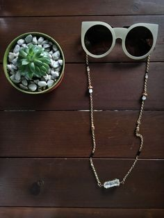 eeb7e5662eb2 Eyeglass Holder, Necklace Holder, Glass Necklace, Festival Wear, Wire  Wrapping Crystals,