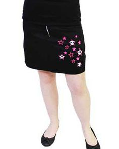 Dark side Black Skulls & Stars Pocket Skirt