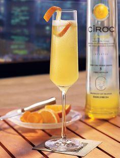 Have an extra sweet toast with the Cîroc Pineapple Mimosa! Mix 1.25 oz. Cîroc® Pineapple, 0.5 oz. lemon juice, 0.5 oz. orange juice, 0.5 oz. pineapple juice, 0.5 oz. honey, and garnish with an orange peel.