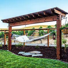 Backyard Hammock, Backyard Pavilion, Backyard Retreat, Hammocks, Design Patio, Backyard Patio Designs, Backyard Landscaping, Diy Backyard Projects, Backyard Ideas