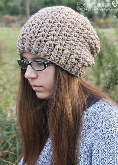 Crochet PATTERN - Elegant Crochet Slouchy Hat Pattern