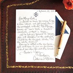 How To Write a Charming Thank-You Note via Southern Living. What a lost art. And great timing.