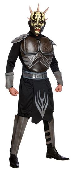 Star Wars the Clone Wars Savage Oppress Adult Costume - A costume that most will fear upon seeing you! Star Wars The Clone Wars Savage Oppress Deluxe Adult. Star Wars Clones, Star Wars Clone Wars, Movie Costumes, Adult Costumes, Halloween Costumes, Sith Lord Costume, Legos, Costume Star Wars, Saga