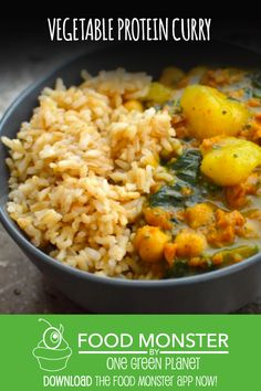 Vegetable Protein Curry Vegan Dinner Recipes, Dairy Free Recipes, Vegan Dinners, Cooking Recipes, Healthy Recipes, Reasons To Be Vegan, Vegan News, Vegetable Protein, Budget Meals