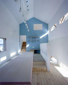 La casa de la pared azul