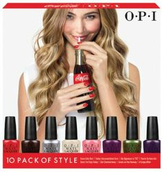 OPI - Coca-Cola by OPI Pack of Style Mini Pack; Thank you OPI for taking my suggestion! (Which other ladies had as well) OPI is offering a bigger mini pack this time around for the price of 3 of its regular polishes. Would love to try this sample pack :) Nail Polish Sets, Opi Nail Polish, Opi Nails, Coca Cola Company Products, Coca Cola Mini, Opi Collections, Nail Polish Collection, The Girl Who, Coco
