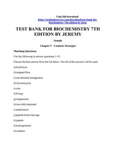 Test bank for organic and biochemistry for today 8th edition by test bank for biochemistry 7th edition by berg fandeluxe Choice Image