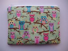 Owl Makeup Bag  Cosmetic Bag  Pencil Case  by CustomThreadsOnline, $12.00
