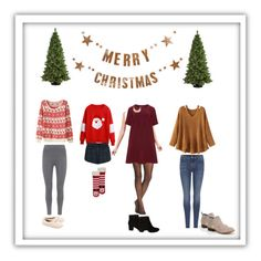 """""""Christmas Time Is Near"""" by huntermr on Polyvore featuring Bloomingville, General Foam, Mint Velvet, Topshop, George, Calvin Klein, UGG, Steve Madden, Manon Baptiste and 7 For All Mankind"""