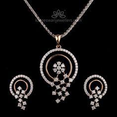 Fleur Diamond Pendant Set #diamondjewelry