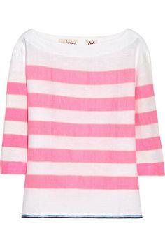 lemlem Bara striped cotton-blend top Lemlem, Top Designer Brands, Fashion Online, What To Wear, Cotton, Fashion Design, Clothes, Shopping, Tops